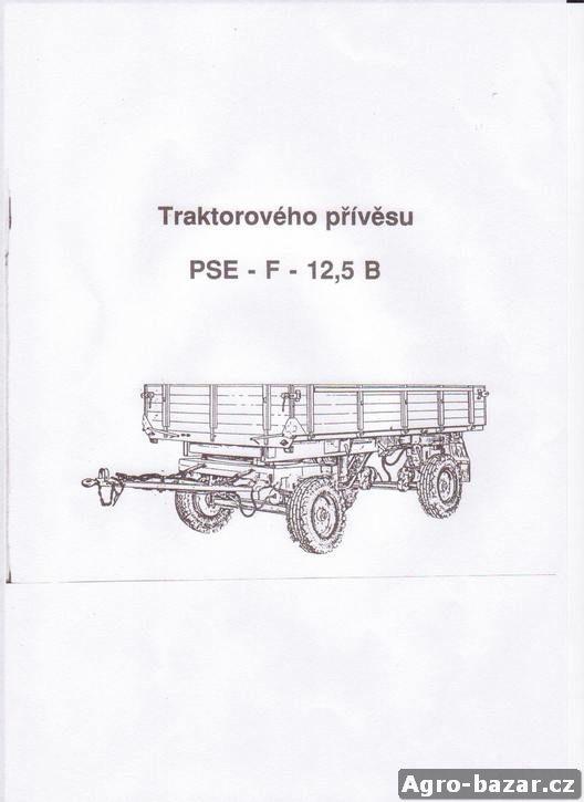 Traktorový vlek 5 t celokovový