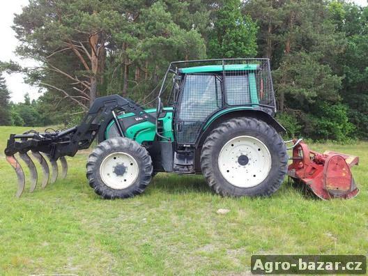 UKT VALTRA N111e s lesnickou nástavbou + shrnovač + fréza