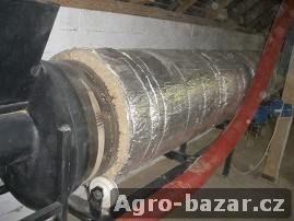 Bubnová sušička na sypký materiál včetně pohonů a převodovek