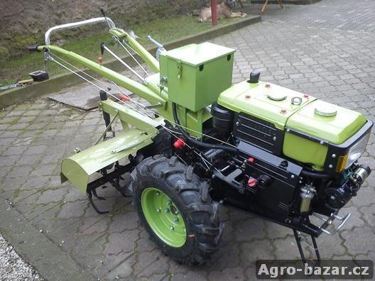 Malotraktor ZUBR 10 PS Startér Diesel