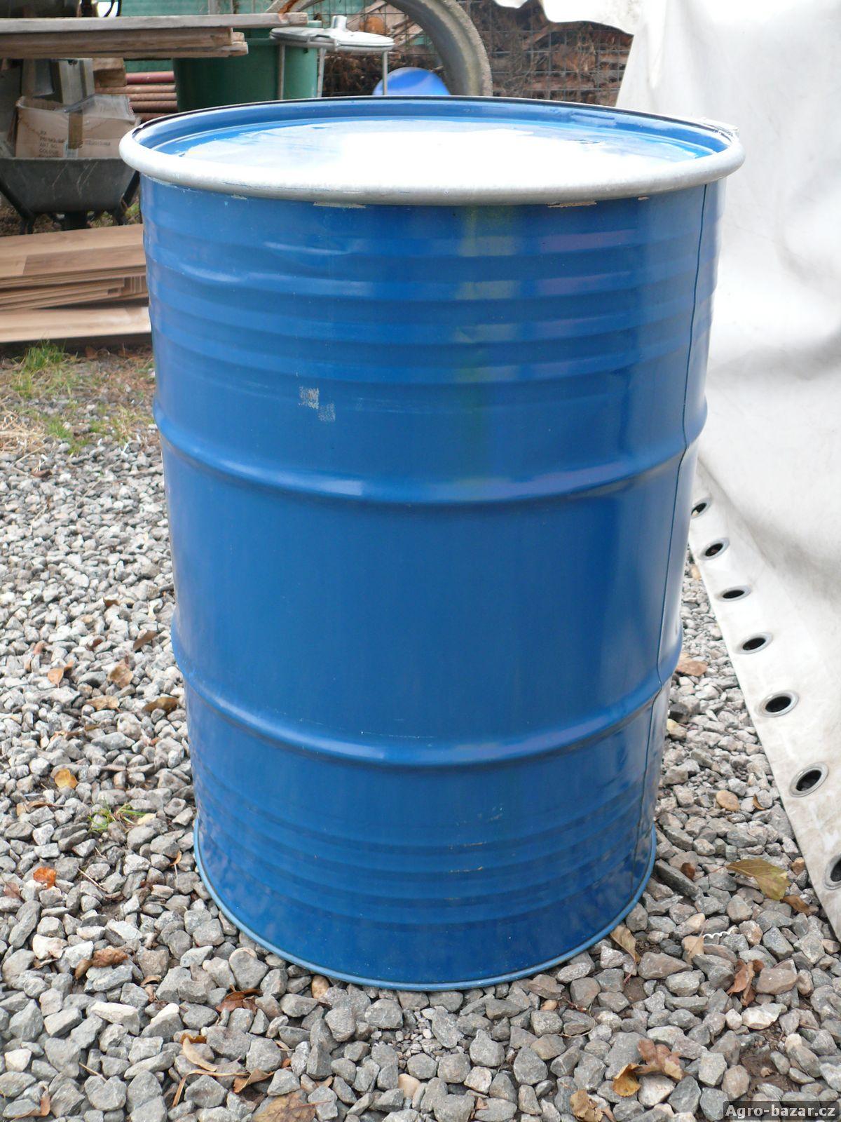 Plechový sud 220L, od potravin, vhodné i na vodu