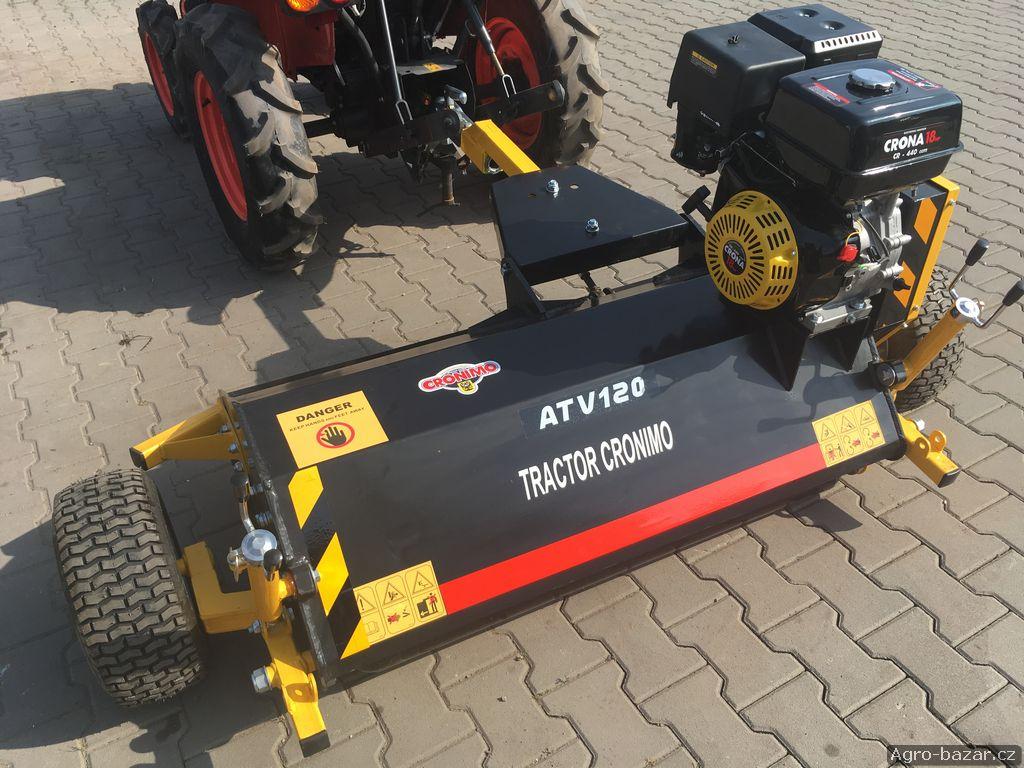 Motorový mulčovač BCQ-120 s výkonným motorem 18 Hp