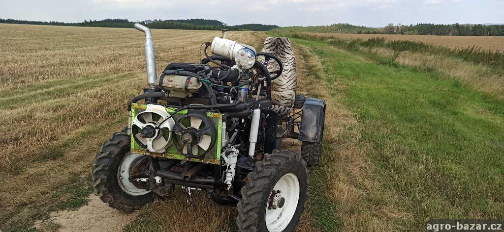 Malotraktor domací výroby 4x4