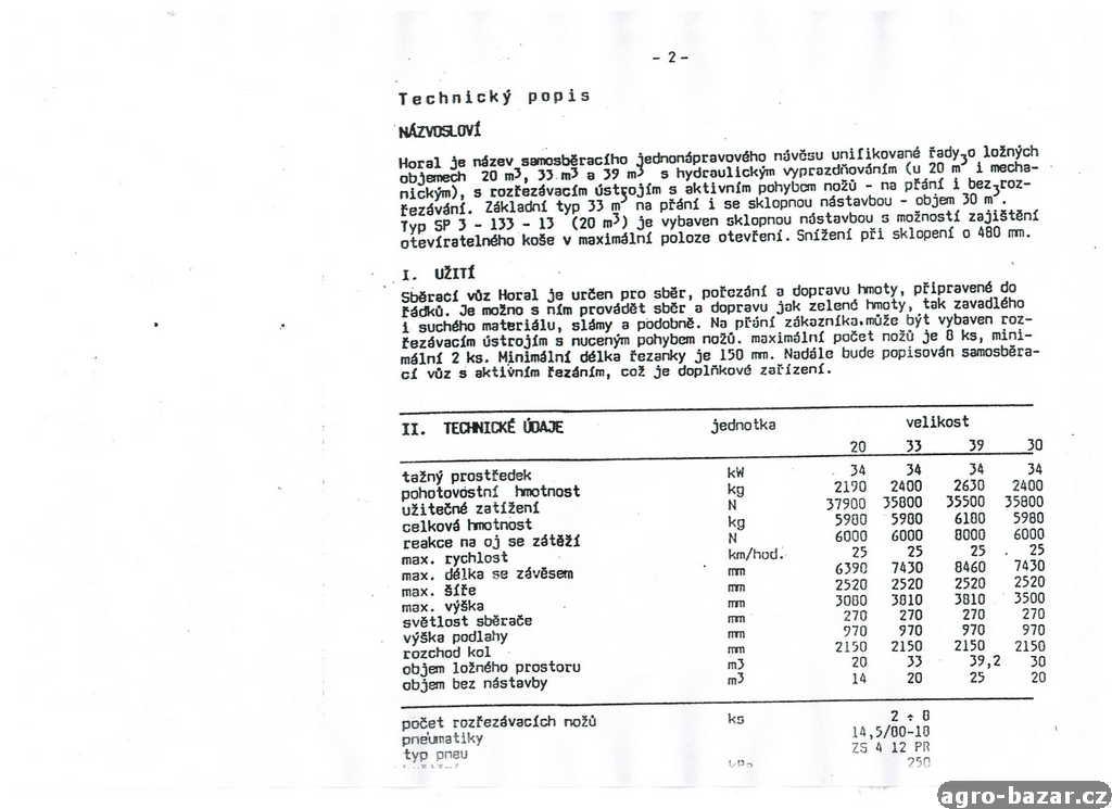 Sběrací vůz HORAL SP3 - 133 (30 m3)