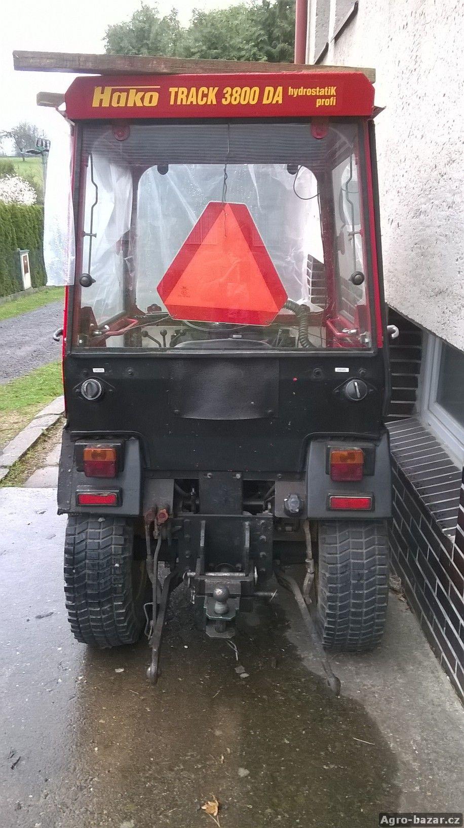 Malotraktor HAKO Track 3800DA HYDROSTATIC PROFI + příslušenství